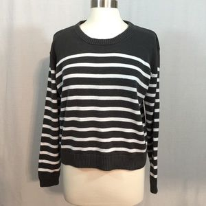 J Crew Striped Sweater Cotton Long Sleeves Size L